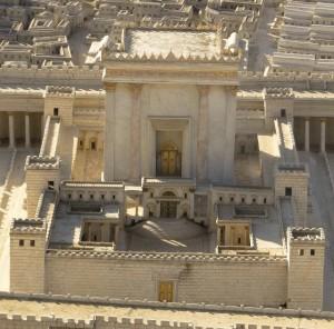 Model van de tweede tempel